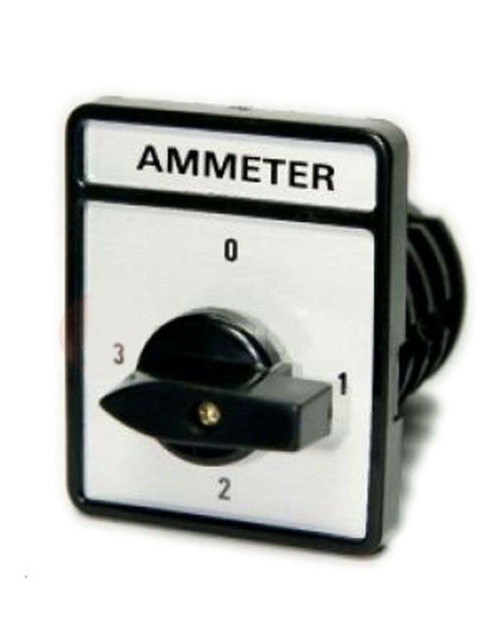 Chuyển mạch Ampe 4 vị trí 3P4W, mặt 48x60
