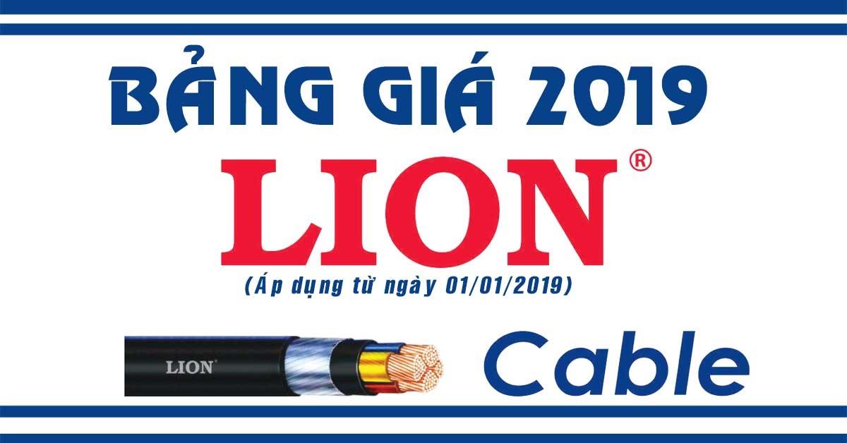 Bảng giá cáp điện LION mới nhất 2019