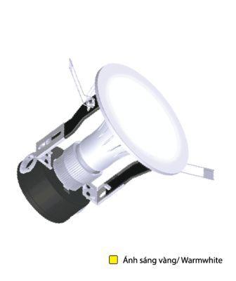 Bộ Đèn LED Downlight ES Điện Quang ĐQ LRD02 05727 90 (5W Warmwhite 3.5 Inch Chụp Phẳng Mờ)