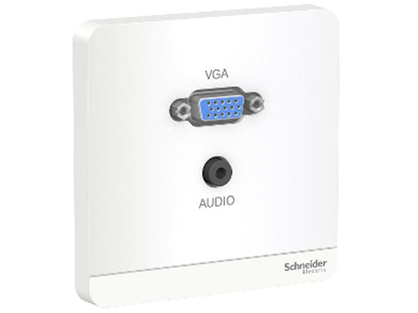 Bộ Ổ Cắm VGA & Mini Audio Màu Trắng