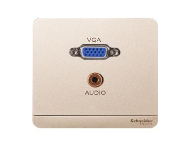 Bộ Ổ Cắm VGA & Mini Audio Màu Vàng Kim