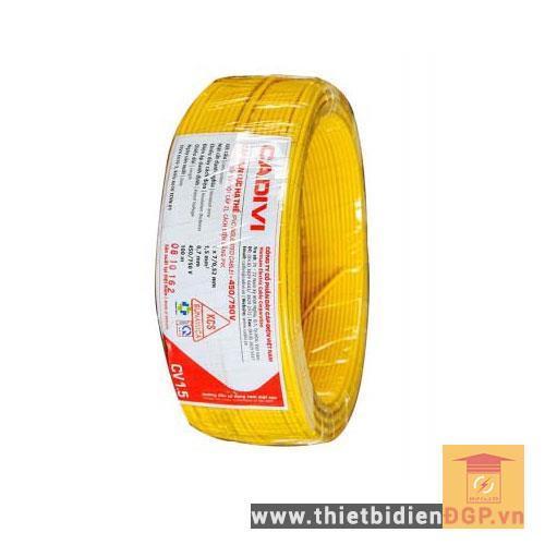 Cáp điện 1 ruột đồng vỏ nhựa CV 450/750V CV 1.0