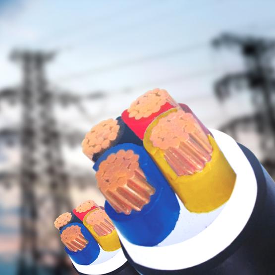 Cáp điện lực 3 pha + 1 trung tính, ruột đồng, cách điện PVC - 0.6/1KV, vỏ bọc PVC