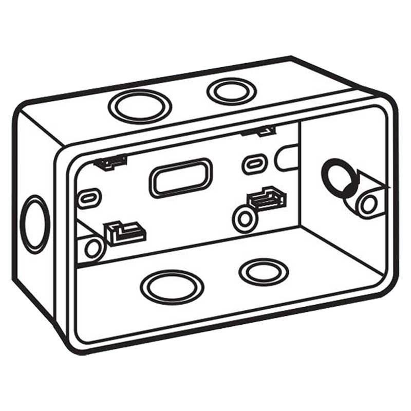 Đế âm nhựa dùng cho mặt át kiểu A và B