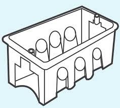 Đế âm nhựa dùng cho mặt át kiểu M