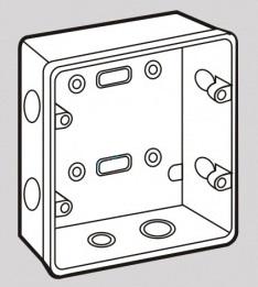 Đế âm tự chống cháy loại đôi, dùng mặt chữ nhật S2157/D