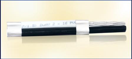 Cáp DUPLEX DuAV 2 lõi, ruột nhôm, cách điện PVC
