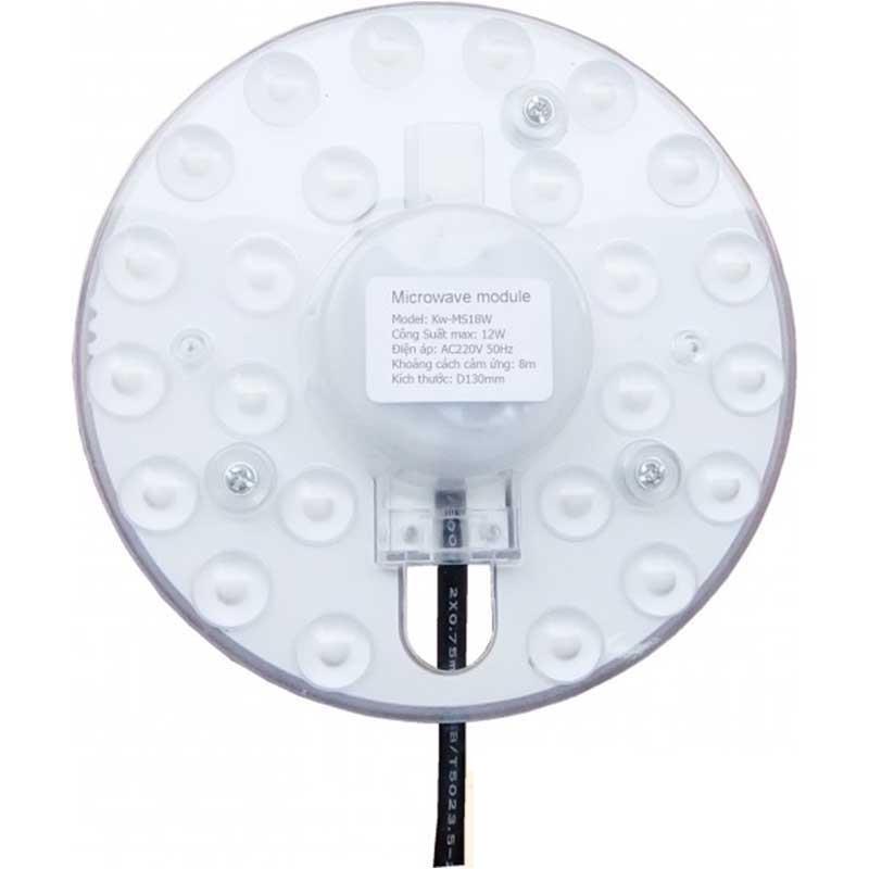Mâm đèn Led 12W Kawasan cảm ứng vi sóng cho đèn ốp trần KW-MS12W