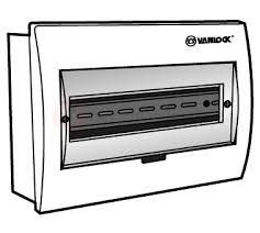 Tủ điện mặt nhựa bóng, đế nhựa chứa 8 - 12 module E4FC 8/12SA