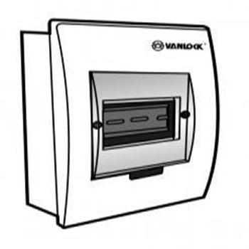 Tủ điện mặt nhựa bóng, đế sắt chứa 3 - 6 module E4FC 3/6S