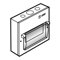 Tủ điện vỏ kim loại chứa 6 Module Gắn âm EM6PL